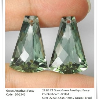 GemRock-Wellness_28.85ct -Green Amethyst Fancy cut