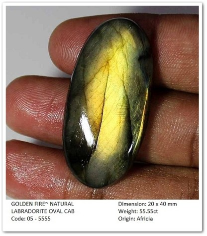 Gemrock_wellness_55.55 CT GOLDEN FIRE~ LABRADORITE OVAL