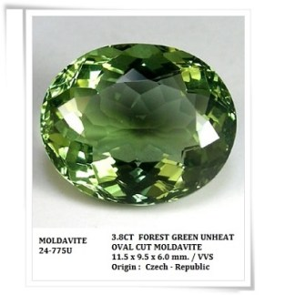 gemstones_GemRock-Wellness_3.8ct. Green Moldavite - VVS (1)