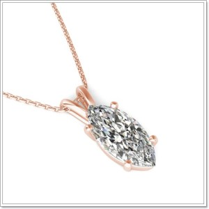 Simulated diamonds_marquise_solitaire_pendant_8578