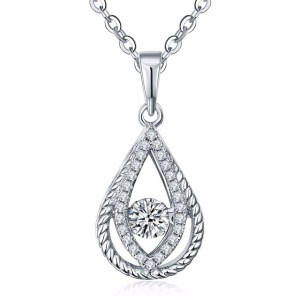 Simulated_diamond_water-drop-925-sterling-silver-necklace-9802A