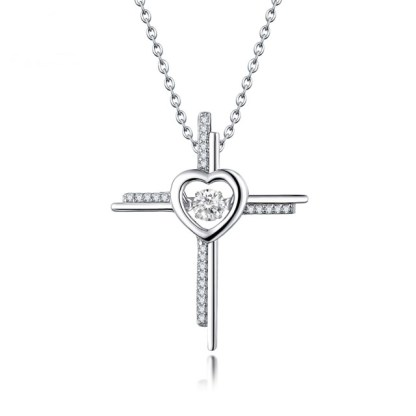 ESQUEL- Pen17113F_white_dancing_topaz_cross_925_sterling_silver_pendant