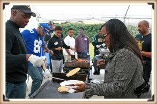 Bro McKinney Serving Flapjacks