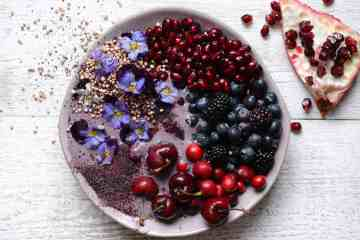 Fully Loaded Blueberry Pomegranate Breakfast Smoothie Bowl