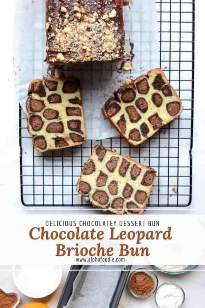 Leopard Brioche Bun. chocolate vanille brioche chake