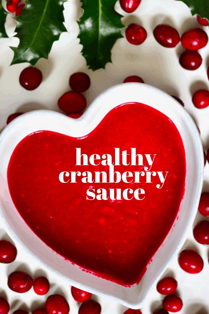 healthy homemade cranberry sauce.