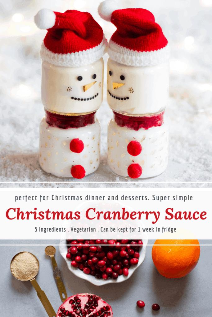 Christmas cranberry sauce with orange