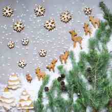 gingerbread fawn cookies