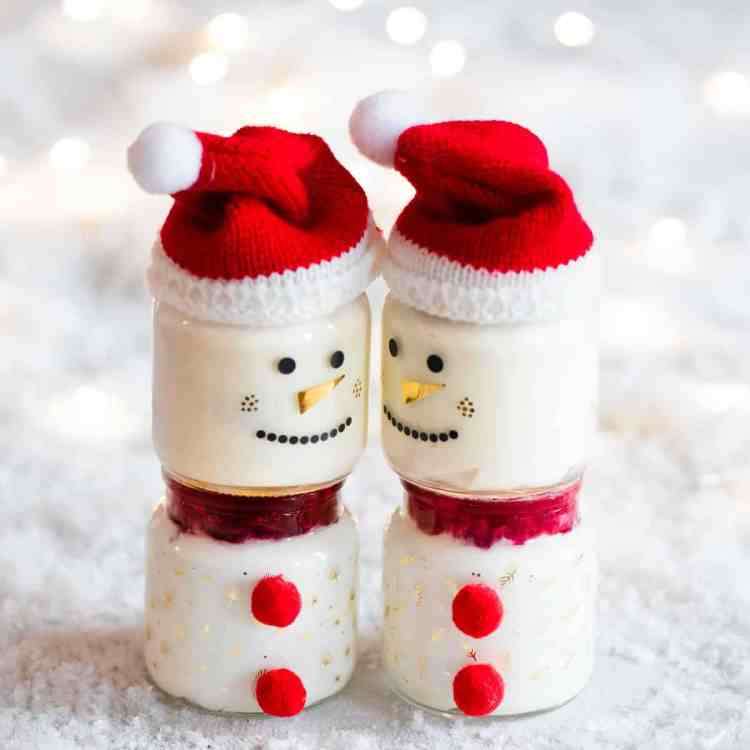 cranberry sauce yogurt pots christmas recipe