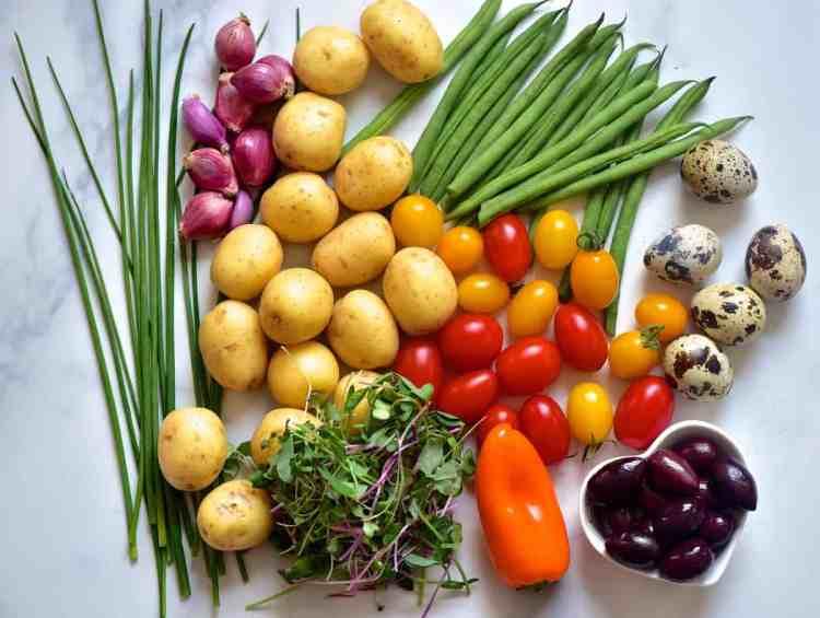 healthy potato salad in a jar recipe. meal-prep