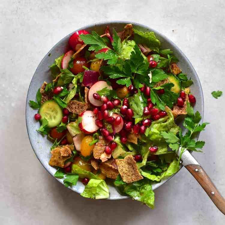 lebanese fattoush salad in a jar recipe