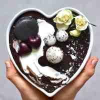 Black Smoothie Bowl with black cacao powder