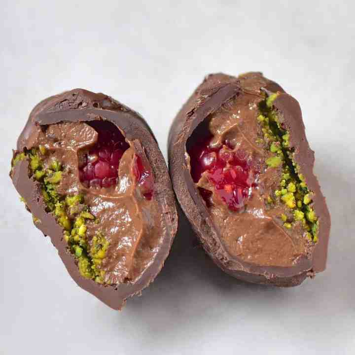 Vegan Avocado Chocolate Mousse truffles