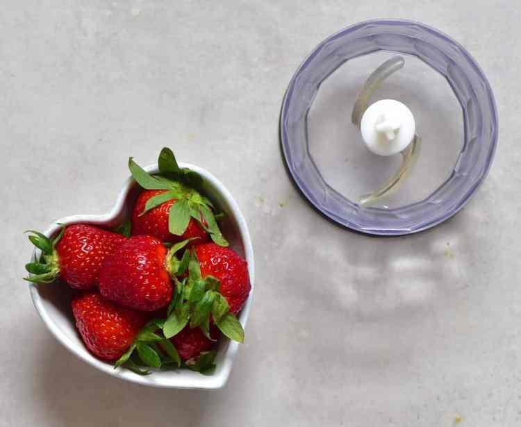 Rose Water Strawberry tart - strawberries