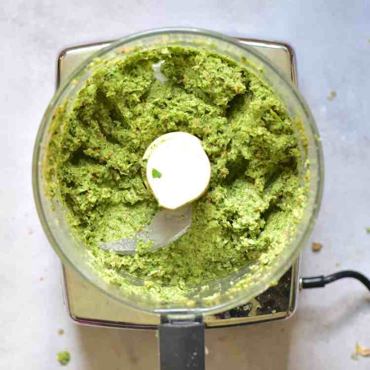 Thai green curry. Home-made curry paste, vegan