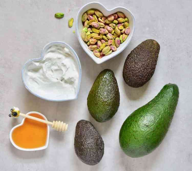 Simple, healthy no churn 4-ingredient dairy-free pistachio & avocado ice cream