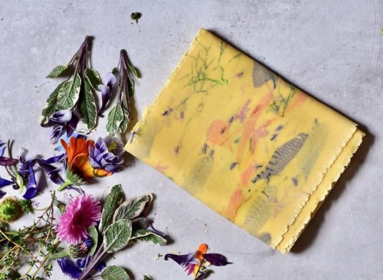 Homemade floral pasta