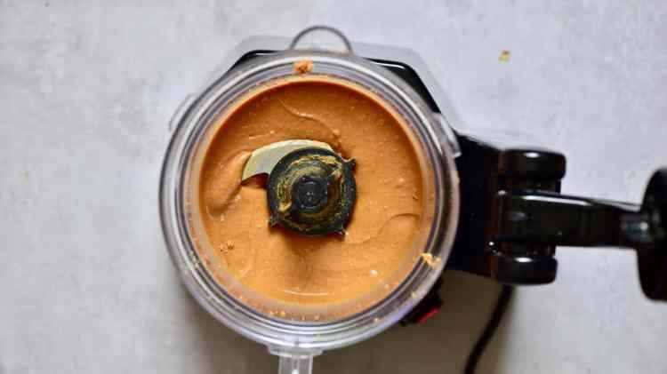 homemade peanut butter in the blender