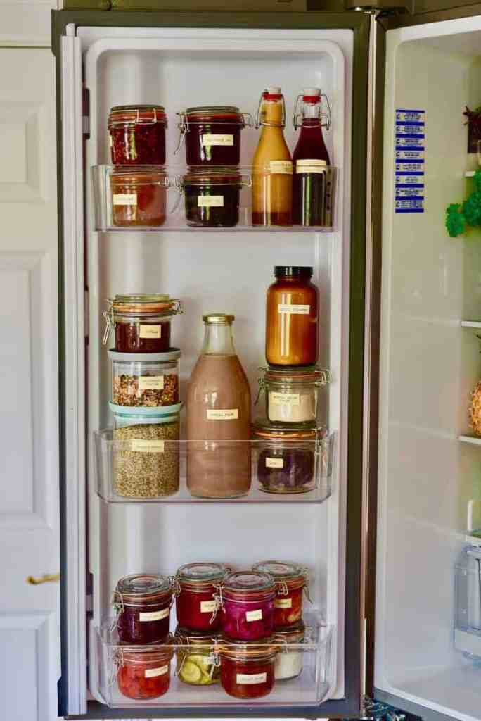 how to organise your fridge to reduce waste. what to keep in the fridge door.