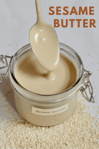 Homemade tahini (sesame butter) with just one ingredient, 15 minutes. Vegan, gluten-free and more delicious and cheaper than store-bought tahini