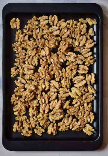 raosting nuts in the oven