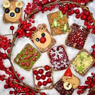 healthy festive toast