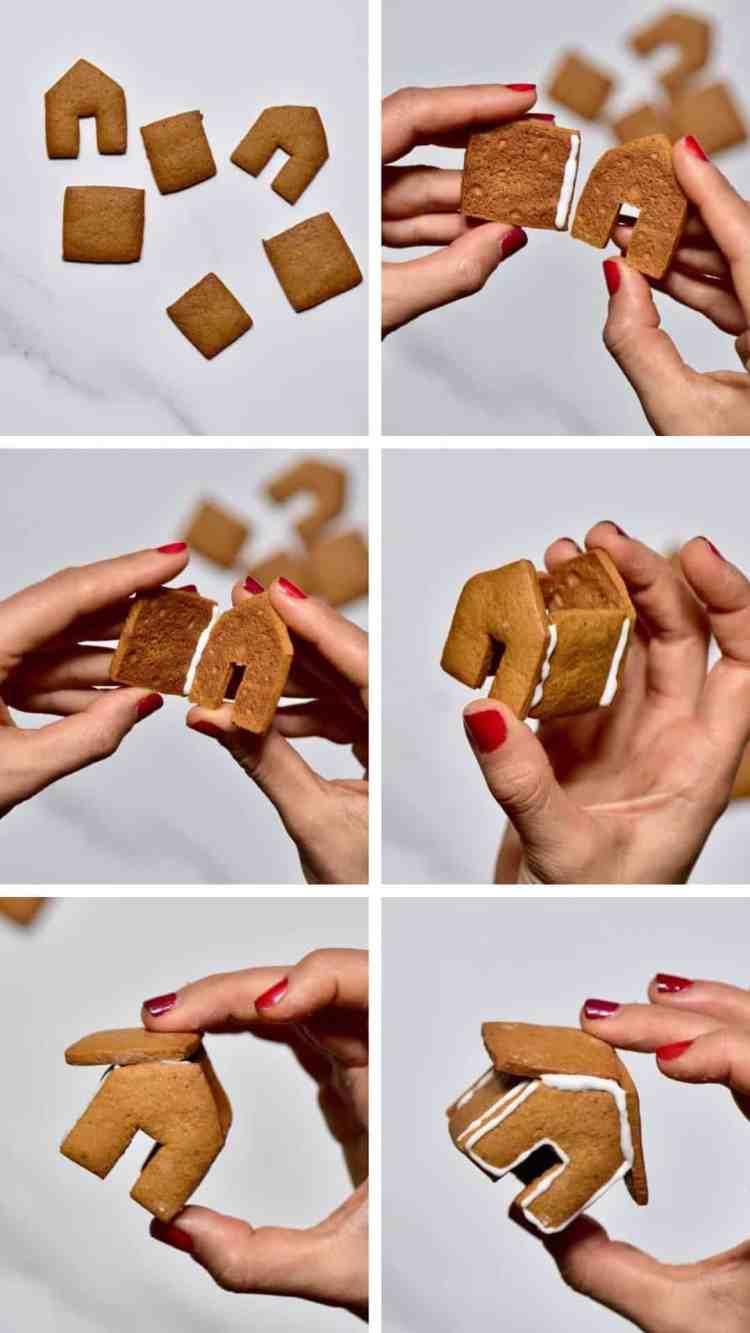 Gingerbread Mini House for a gingerbread mug topper or cupcake topper.