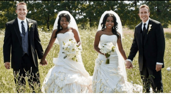 Beautiful twin brothers marry twin sisters!