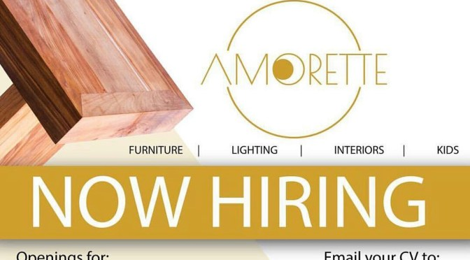 New job opportunity @Amorette!