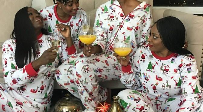 Happy holidays from mama Prince Kairo and her sisterhood squad!