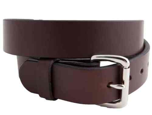 Versacarry Single Ply Leather Belt Brown