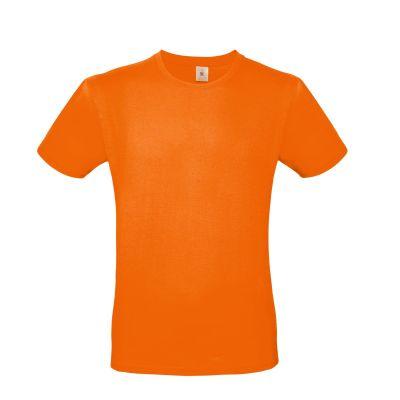 T-shirt girocollo uomo lavoro colore arancio