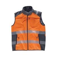 GILET WORKSHELL Alta visibilità colore arancione