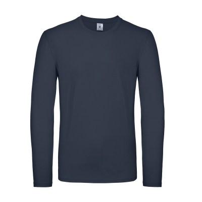 T-shirt a manica lunga con struttura tubulare lavoro uomo colore blu navy