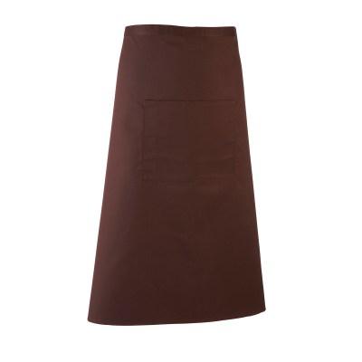 Grembiule lungo in stile bar colore MARRONE