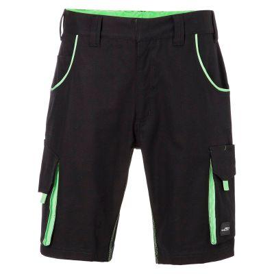 Pantaloni leggeri in canvas colore NERO-LIME