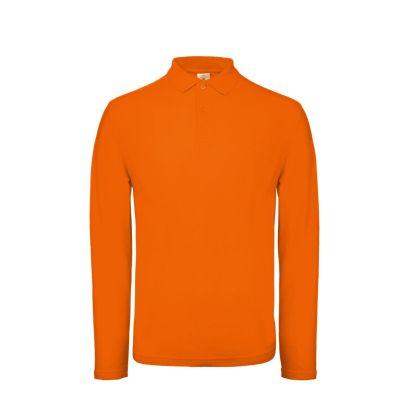 Polo a maniche lunghe uomo colore arancio
