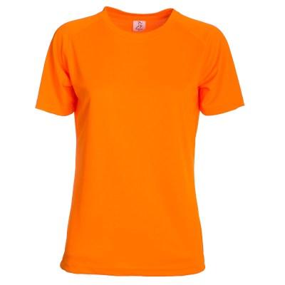 T-shirt maniche corte raglan lavoro donna colore arancio