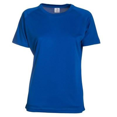 T-shirt maniche corte raglan lavoro donna colore blu royal