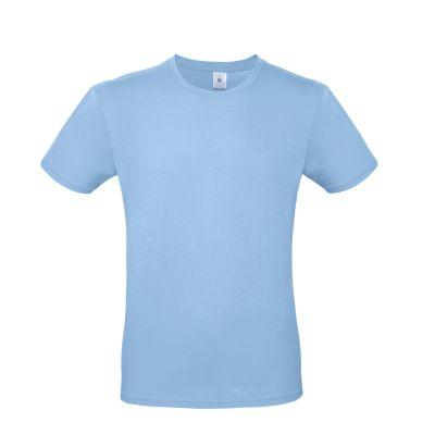 T-shirt girocollo uomo lavoro colore sky blu