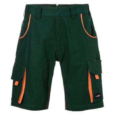 Pantaloni leggeri in canvas colore VERDE-ARANCIO