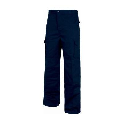 Pantalone fondo dritto colore navy