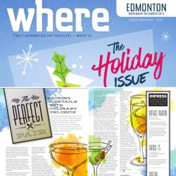 The Perfect Pair: Pairing Cocktails with Culinary Delights, Where Edmonton Magazine, Mash-up