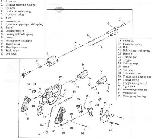 Taurus 82 Import Parts Diagram