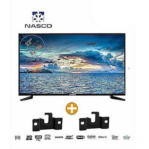 Nasco Slim TV LED_32 - HD - Décodeur Intégré - Régulateur de tension - HDMI - USB - VGA Abidjan Côte D'ivoire