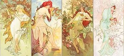 Four Seasons Alphonse Mucha