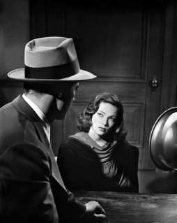 1944- Gene Tierney during the interrogation scene of the film noir, 'Laura', directed by Otto Preminger.
