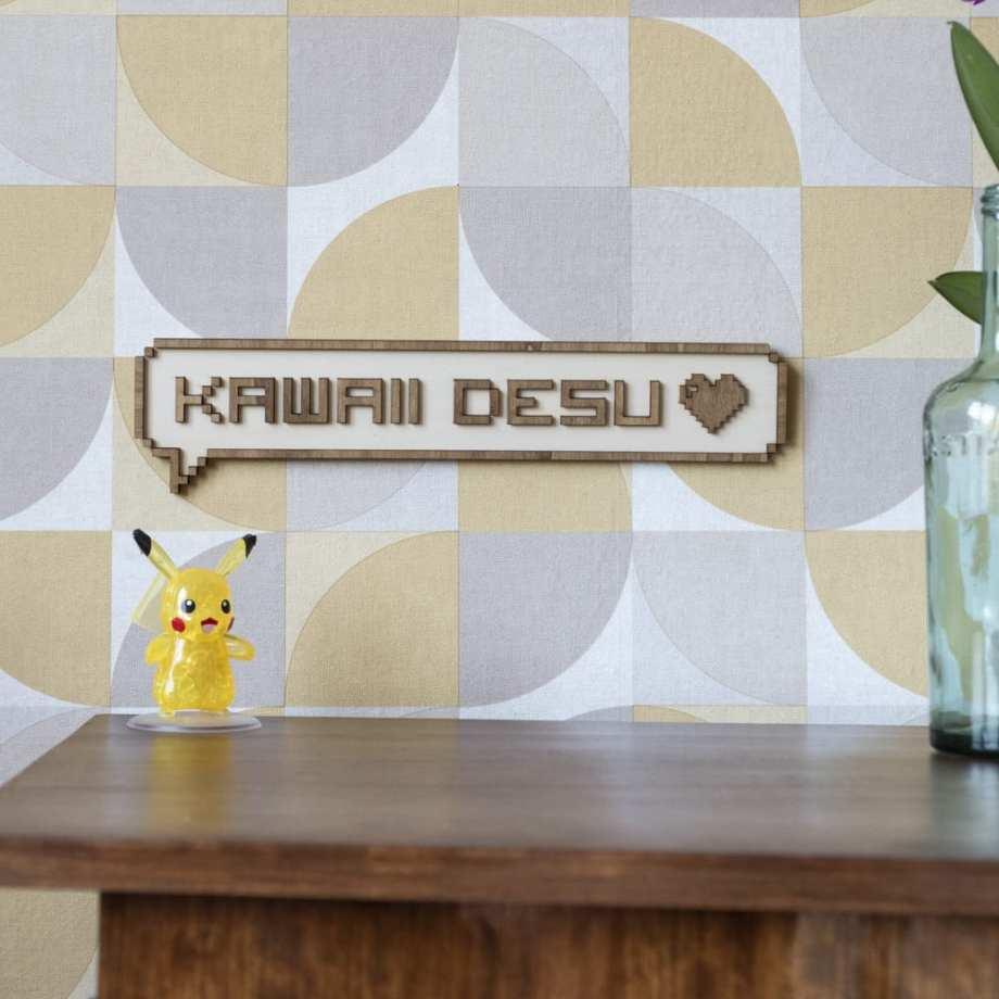 décoration murale intérieur bois pixel jeux vidéos retro gaming japon mignon porte enfant chambre