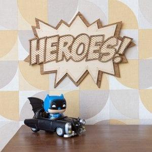 Heroes Comics Style – Décoration murale en bois