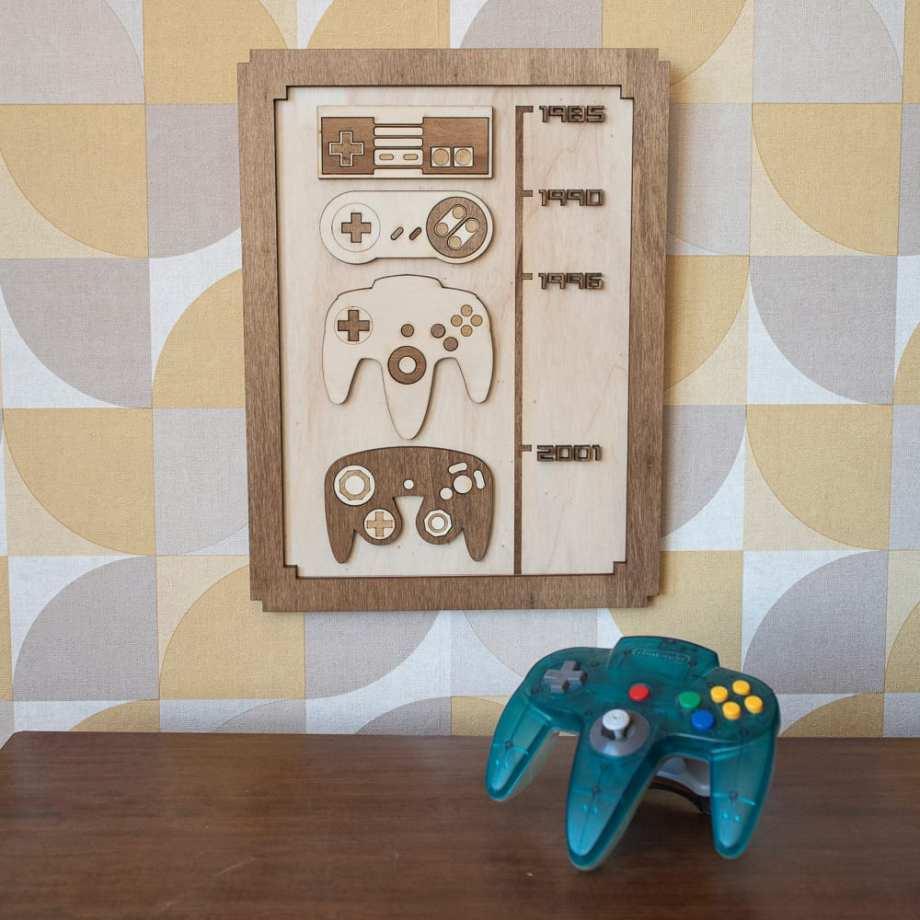 décoration murale intérieur geek gaming room consoles 80's 90's